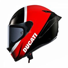 Another one for the Ducati crowd. The base model for this helmet is the AGV…