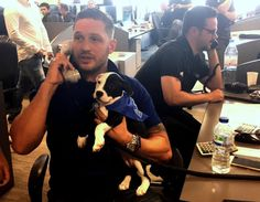 Dog's best friend Tom Hardy shows his soft side in Battersea Dogs & Cats…