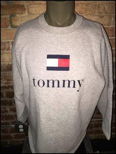 af9b42e17487f Vintage 90 s Tommy Hilfiger Jeans Crewneck by RackRaidersVintage Tommy  Hilfiger Jeans