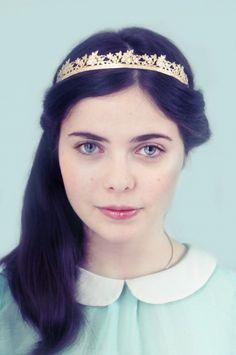 Wedding diadem - golden crown