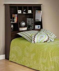 Espresso Twin Bookcase Headboard