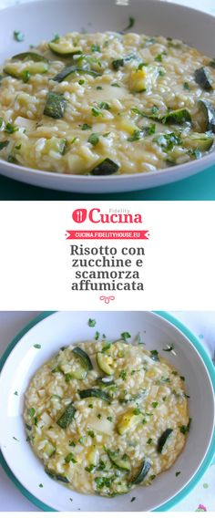 Risotto con zucchine e scamorza affumicata – Rezepte Risotto Recipes, Pasta Recipes, Cooking Recipes, Vegetarian Recipes, Healthy Recipes, Italy Food, My Favorite Food, Italian Recipes, Food Inspiration