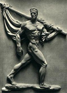 sculpture & statues | relief sculpture | standard bearer | arno becker