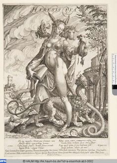 Antonius Eisenhoit (around 1553-1603)... print ...Haeresis Dea... 1589