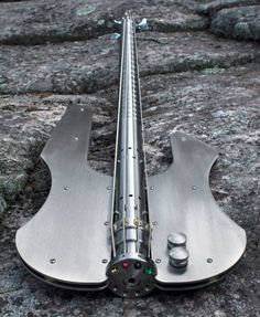 ♂ Unique product design ♪♫ Music ♪♫ Stash - Stainless Bass Guitar
