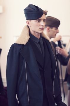 Backstage at Lou Dalton AW12, London Fashion Week. Max Rendell at Elite by Cecilie Harris.