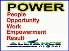 POWER in Alliance in Motion Global  Power  Opportunity  Work  Empowerment  Result @Aimee Lemond Global