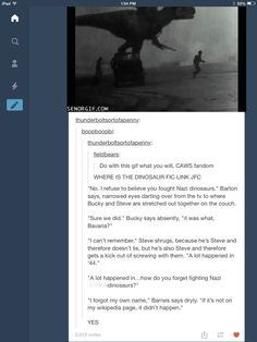 There should be a full length movie about Steve and Bucky messing with the Avengers like this...