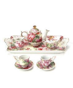 English rose tea set