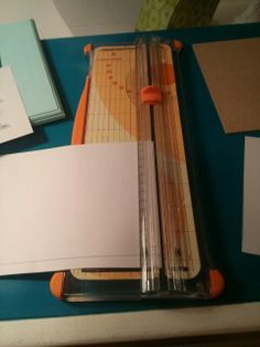 I used my paper cutter so I could get a nice clean line.