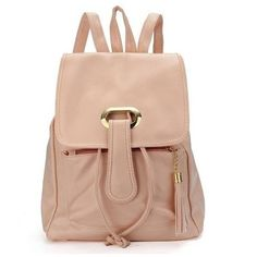 Girl Fashion Casual Sweet School Bag Backpack ($12) ❤ liked on Polyvore featuring bags, backpacks, newchic, backpack bag, pu leather backpack, pleather backpack, string backpack and knapsack bags