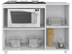 Balcão para Cooktop Multimóveis - 2 Portas Nicho para Micro-ondas 5006.010 com as melhores condições você encontra no Magazine Eduardorrosa. Confira!