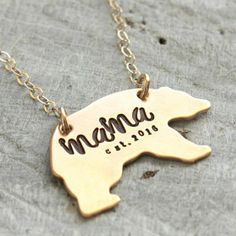 mama bear necklace - Tag...You're It