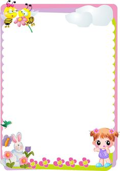 34 Free borders and frames - Aluno On Frame Border Design, Boarder Designs, Page Borders Design, Free Printable Stationery, Printable Labels, Boarders And Frames, Hello Kitty My Melody, Kids Background, School Frame