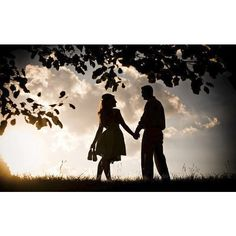 Silhouette and Shadow Engagement Photos ❤ liked on Polyvore featuring backgrounds, love and people pictures