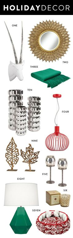 10 Holiday Decor Items to Update Your Home (that look great year-round) by @Meg Biram #lampsplus #styleilluminated