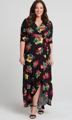 d49a6ae7e1f True wrap floral wrap plus size 💄 dress you ll want to 👠 wear 👠