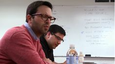 Check out the board behind Adam Horowitz and Eddie Kitsis, writers behind Once Upon a Time