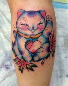 { Interview } Shaun Dean Emerald - Tattoo Artist at Fox Tattoo Studio - Caffeine and Fairydust Maneki Neko Cat