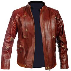 Guardians Of The Galaxy Star Lord Peter Quill Chris Pratt Real Leather Jacket #Handmade #CelebrityJackets