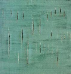 Lucio Fontana light green