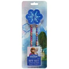 Andaz Press Party Favors Kit with Disney Frozen BFF Best Friends Forever Pencil Eraser Set with Gold @ niftywarehouse.com #NiftyWarehouse #Frozen #FrozenMovie #Animated #Movies #Kids