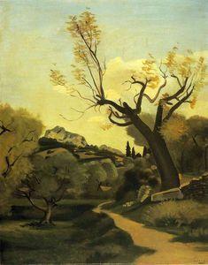 la route et le arbre - (André Derain)
