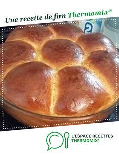 Brioche fleur par fanny95630. Une recette de fan à retrouver dans la catégorie Pâtisseries sucrées sur www.espace-recettes.fr, de Thermomix<sup>®</sup>.