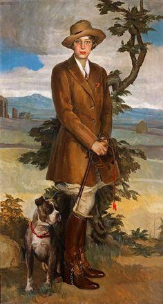 Portrait of Elizabeth Powell, 1925 by Carlo Romagnoli (Italian 1888-1965)