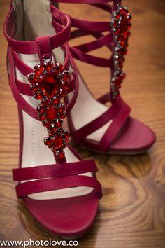 Detalles de zapatillas para el baile.