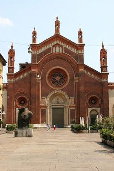 The church of Santa Maria delle Grazie in Milan, Italy.
