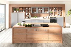 Dizajnové kuchyne U Shaped Kitchen, Open Kitchen, Behind The Chair, The Door Is Open, Built In Ovens, Living Spaces, Living Room, Refrigerator Freezer, Homemaking