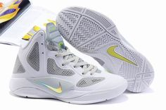 best sneakers ad1d1 d3fd9 Nike Zoom Hyperfuse 2011 White Grey Yellow Nike Factory Outlet, Nike  Outlet, Nike Shoes