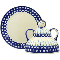 Ceramika Bona H1251H Polish Pottery Ceramic Cheese Lady Hand Painted 10Inch -- See this awesome image @