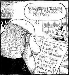 Funny Christmas Cartoons, Christmas Humor, Speed Bump, Funny Comics, Comic Strips, Festive, English, Names, Happy