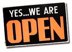 Wij zijn open op?!