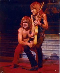 Ozzy Osbourne and Randy Rhoads..............