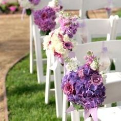 Get expert wedding planning advice and find the best ideas for wedding decorations, wedding flowers, wedding cakes, wedding songs, and more. Wedding Ceremony Ideas, Wedding Pews, Wedding Chairs, Ceremony Seating, Wedding 2017, Trendy Wedding, Wedding Venues, Dream Wedding, Wedding Pew Decorations