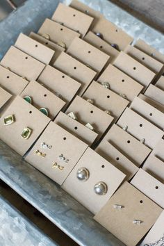 Diy Kraft Paper Earring Display Cards Organized Jewelry Modish And Main Jewellery Storage