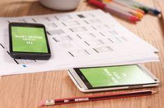 Smartphones on Desk Mockup Template | ShareTemplates