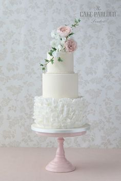 Beautiful bespoke award-winning wedding cakes designed and created with love by Zoe Clark and her team at The Cake Parlour. #weddingcakes
