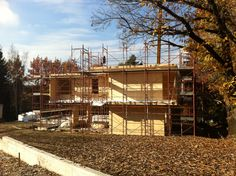 Making of...Log House's villa in Lombardia, Italy - as in November 2012.  This is what we have done in just one week of work on the place, including foundation pouring....     (c) www.loghouse.it