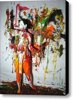 Body Painting Stretched Canvas Print / Canvas Art By Charles Harrison Pompa