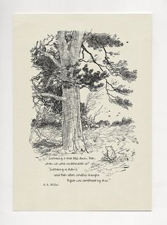 Supposing a tree fell down, Pooh - Pooh Quotes classic vintage style poster print Winnie The Pooh Honey, Winnie The Pooh Quotes, House At Pooh Corner, Enough Is Enough Quotes, Tree Felling, Tree Quotes, Bullet Journal Aesthetic, Pooh Bear, Vintage Artwork