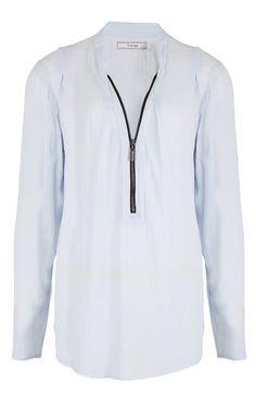 New Season: Fransa Blue Sky Zip Shirt