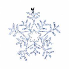 4e4d17ccf67 Luz navideña Copo de Nieve 216 LED interior exterior blanco hielo