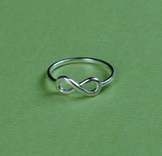 Infinity Ring Personalized Ring Silver Infinity Ring by Bestyle, $25.00