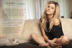 Waiting for dinner date? Read about what Ashley Roberts has been doing since the Pussycat Dolls and her 90210 appearance in LA HOT Magazine on your mobile device! Such a sweetheart photographed by the also sweet and talented Anthony Fiorin with her dog Cooper.