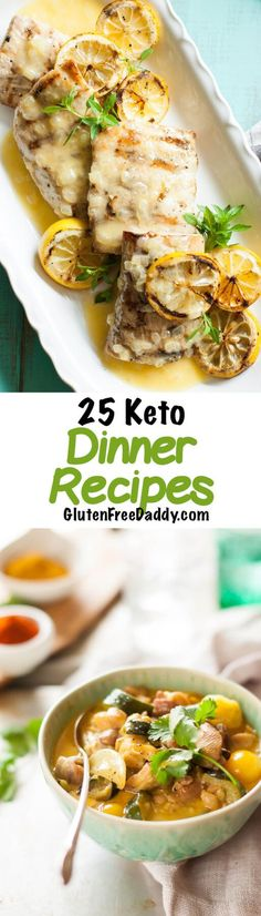 - I have 25 of the best ever low carb Keto dinner recipes for you to try out. This is a treasure trove of healthy low carb recipes.