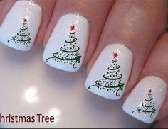 21 Fabulous and Easy Christmas Nail Designs: #20. Simple Christmas Nail Design